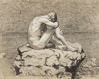 Loneliness - Loneliness by Hans Thoma (National Museum in Warsaw)