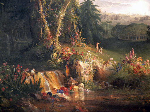 Thomas Cole The Garden of Eden detail Amon Carter Museum