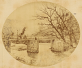 Three Men on a Stone-Beamed Bridge. China, 1874 WDL2057.png