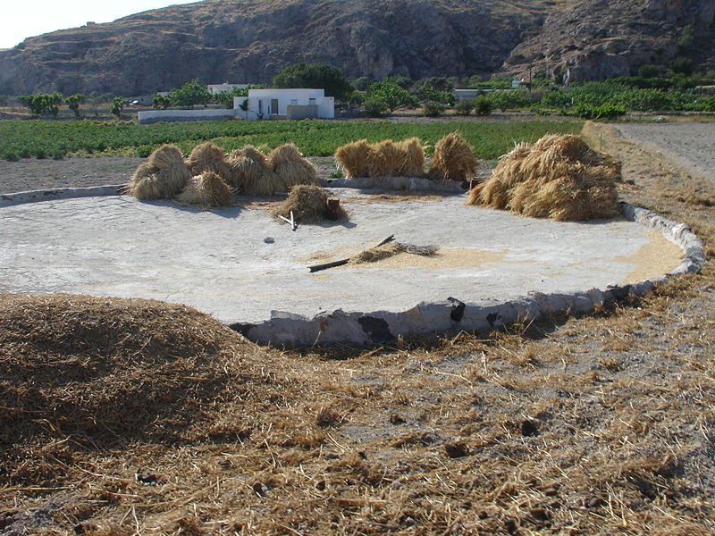 File:Threshing place, Santorini, Greece.jpg