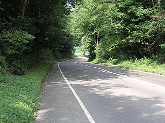 London to Brighton Way - The road south of Godstone at Tilburstow Hill