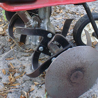 Cultivator - Tines close-up