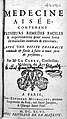 Title page from Le Clerc, La medecine aisee, 1696 Wellcome L0019020.jpg