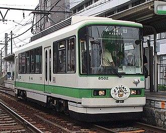 Toden Arakawa Line - Image: Toden 8500 8502