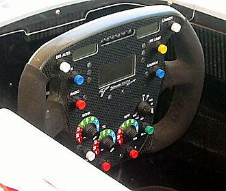 Manettino dial - Image: Toyota F1 steering wheel
