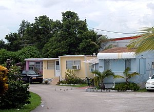Sunnyside Trailer park in West Miami, Florida
