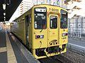 Train for Nishi-Karatsu Station at Imari Station.jpg