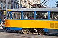 Tram in Sofia near Central mineral bath 2012 PD 063.jpg