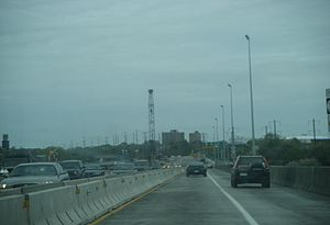 Trenton–Morrisville Toll Bridge - Northbound across the bridge
