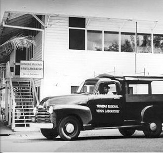 Trinidad Regional Virus Laboratory - Photo taken at the laboratory headquarters in Port of Spain c. 1957