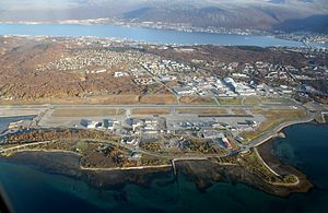 Tromsø Airport, Langnes - Overview of the airport