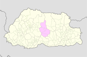 Location of Korphu Gewog