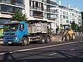 Truck and front-end loader in Kamppi.jpg