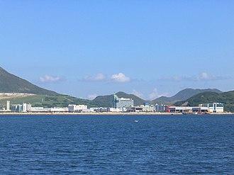 Tseung Kwan O Industrial Estate - View of Tseung Kwan O Industrial Estate across Junk Bay (Tseung Kwan O).