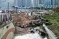Tseung Kwan O Waterfront Park planter destroy after Typhoon Mangkhut 20180918.jpg