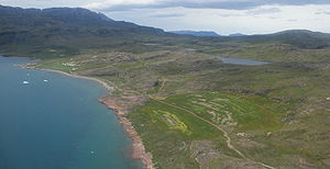 Tunulliarfik Fjord - Farms of Qassiarsuk on the northwestern shore of Tunulliarfik
