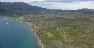Tunulliarfik Fjord - Farms of Qassiarsuk on the northwestern shore of Tunulliarfik