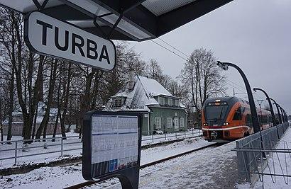 Kuidas ühistranspordiga sihtpunkti Turba raudteejaam jõuda - kohast