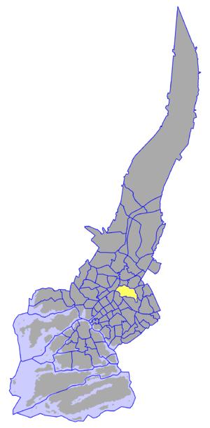 Nummi - Nummi on a map of Turku.