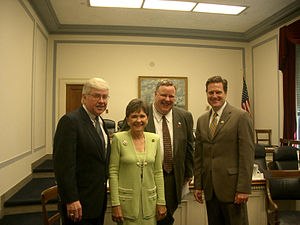 Phil English - English with Jack Kemp, Sue Myrick and Mike Turner (c. May 2004)