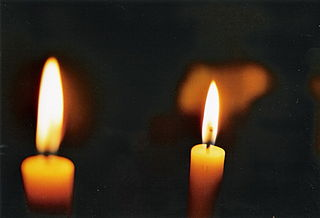 Flames from two candles