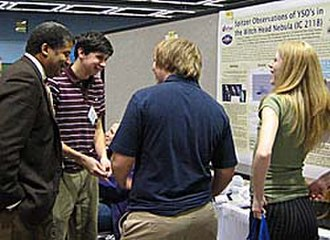 Neil deGrasse Tyson - Tyson with students at the 2007 American Astronomical Society conference