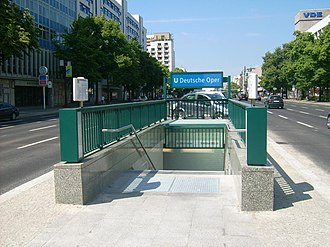 Deutsche Oper (Berlin U-Bahn) - The new entrance on Bismarckstraße