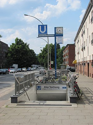 Alter Teichweg (Hamburg U-Bahn station) - One of the station's entrances