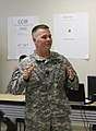 U.S. Army Capt. Caleb Emde, with the 45th Infantry Brigade Combat Team, Oklahoma Army National Guard, briefs Gen. Frank J. Grass, the chief of the National Guard Bureau, in Oklahoma City May 28, 2013, on 130528-Z-VF620-3927.jpg