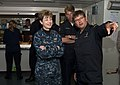 U.S. Navy Rear Adm. Ann Phillips, left, the commander of Expeditionary Strike Group 2, talks with crew members aboard the Royal Netherlands Navy frigate HNLMS Evertsen (F805) June 14, 2013, in the Baltic Sea as 130614-N-ZL691-066.jpg