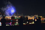 U.S. Sailors watch a New Year's Eve fireworks display from the flight deck of the aircraft carrier USS George Washington (CVN 73) in Yokosuka, Japan, Jan. 1, 2014 140101-N-BT947-343.jpg