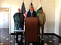 U.S. Secretary of State John Kerry delivers a statement after his trilateral meeting with Afghan President Hamid Karzai and Pakistani Chief of Army Staff General Ashfaq Kayani in Brussels, Belgium, on April 24, 2013.jpg