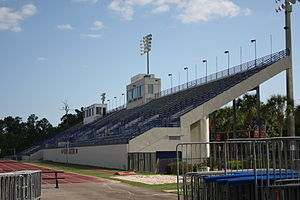 Florida Gators track and field - Percy Beard Track at Pressly Stadium is the home of the Florida Gators track and field teams.