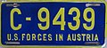 US-Forces-in-Austria USFA Welfare Organizations license plate C-9439.jpg