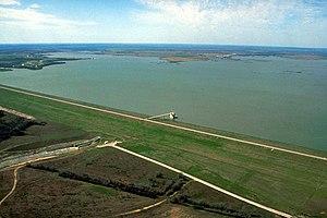 Granger Lake - Aerial view of Granger Lake and Dam