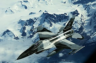 Exercise Northern Edge - A USAF F-16 Fighting Falcon participating in Northern Edge 2011.