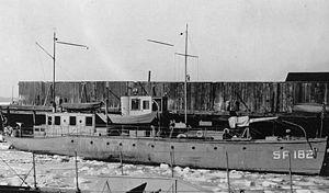 USS Arcturus SP-182 in ice