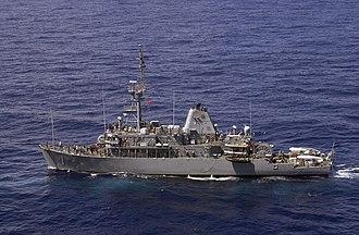 Avenger-class mine countermeasures ship - Image: USS Avenger MCM 1