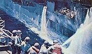 USS Forrestal fire-fighting water 1967