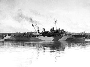 USS Ozark (LSV-2) - Image: USS Ozark (LSV 2) on 16 September 1944