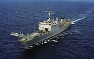 USS Racine (LST-1191) portside bow view cropped