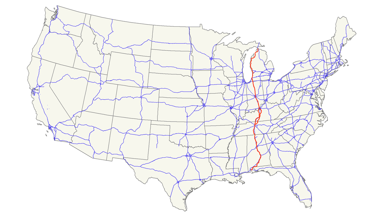 US Route Wikipedia - Alabama map us