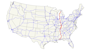 US Route Wikipedia - Us 31 highway map