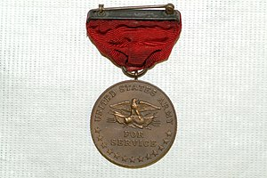 Indian Campaign Medal - Image: US Army 52025 Indian Wars Service Medal Reverse Side