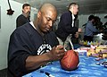 US Navy 020522-N-5027S-002 Sports star Bo Jackson visits the crew aboard the amphibious assault ship USS Saipan.jpg