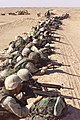 US Navy 030217-M-4419R-008 The designated shooters of the 5th Marine Regiment, 1st Marine Division from Camp Pendleton, Calif., lay on line as the practice range finding targets in Northern Kuwait.jpg