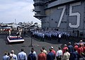 US Navy 030427-N-4308O-021 Rear Adm. John D. Stufflebeem, Commander Carrier Group Two, swears in more than fifty sailors during a group reenlistment ceremony on the flight deck aboard USS Harry S. Truman (CVN 75).jpg