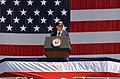 US Navy 030712-N-8295E-310 Senator John Warner of Virginia, addresses a distinguished audience at the commissioning ceremony of the Navy's newest Nimitz-class nuclear powered aircraft carrier USS Ronald Reagan (CVN 76).jpg