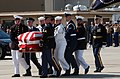 US Navy 040609-N-5362A-007 Ceremonial Guardsmen carry the casket of former President Ronald Reagan to Air Force One on the flight line of Naval Base Ventura County, Pt Magu, Calif.jpg