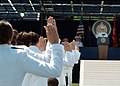 US Navy 050527-N-9693M-021 The Chief of Naval Operations, Adm. Vern Clark administrates the Oath of Office for Midshipmen becoming Ensigns in the United States Navy as part of the U.S. Naval Academy class of 2005 Graduation and.jpg